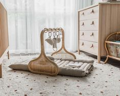PRE ORDER May: Rattan Play Gym Bundle - Natural/Cocoa - PRE ORDER for end of October 2019 delivery. Please note, that by purchasing this item, you accept t - Baby Bedroom, Baby Room Decor, Nursery Room, Girl Nursery, Kids Bedroom, Design Tradicional, Play Gym, Baby Room Design, Nursery Neutral