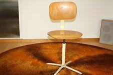Alter 50er Jahre Drehstuhl Stuhl Bauhaus Art Deco Holzstuhl Bürostuhl