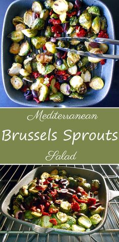 Brussels Sprouts made with Mediterranean flavors and spices.  Perfect light and healthy lunch recipe. It is perfect for those that are fans of the Mediterranean diet. Vegan, vegetarian and lo carb. Very nutritious