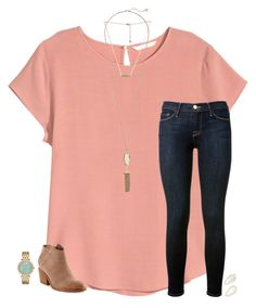 A fashion look from February 2016 by featuring H&M, Frame Denim, Dolce Vita, Michael Kors and Kendra Scott Simple Outfits, Outfits For Teens, Trendy Outfits, Cute Outfits, Fashion Outfits, School Outfits, School Looks, Fall Winter Outfits, Spring Outfits