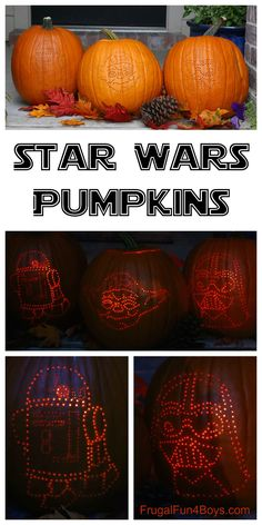 How to make awesome Star Wars pumpkins - with a drill! Tips for getting the image onto the pumpkin and for getting the design right.