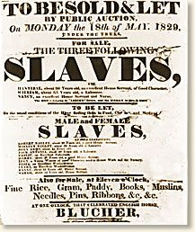 Slave Auction, 1859 - A source document on a slave auction.  Great for having students learn about the time period through a primary source.
