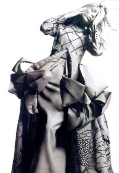 """Anja Rubik in """"Dream Couture"""" by Greg Kadel for Vogue China April 2007"""