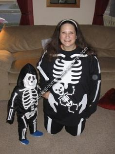 Homemade Pregnant Skeleton Costume... This website is the Pinterest of costumes