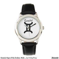 Gemini Sign of the Zodiac. Kids Watches. Wrist Watch