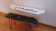 Skateboard Deck DIY Coffee Table Supreme Hairpin Legs