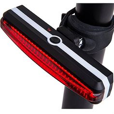 Sportszu Bicycle Tail Light with USB Rechargeable Red and 6 Modes In One Rear LED Safety Strobe Flashing Light Compatible With Bikes Helmets Bags  including 2 Colorful Rainbow Wheels Lights ** Click on the image for additional details.