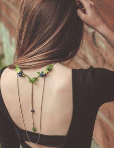 IMHERE W U Femmes Perles en c/éramique Collier Style Vintage Fille Pendentif Long Pull Ethnique neacklace Bijoux Cou