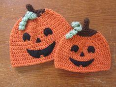 Free Crochet A Chick w/ Sticks: Halloween Hat Pattern - Jack Crochet Pumpkin Hat, Crochet Fall, Holiday Crochet, Free Crochet, Knit Crochet, Crochet Kids Hats, Crochet Beanie, Crochet Crafts, Crochet Projects