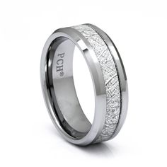 Men's Meteorite Tungsten Ring, 8mm Comfort Fit Wedding Band Meteorite Wedding Band, Tungsten Carbide Wedding Bands, Meteorite Ring, Waterproof Epoxy, Phrase Meaning, Birthday Presents For Men, Edge Design, Unique Rings, Ring Designs