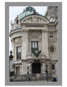 Paris Opera Garnier Paris Architecture, Neoclassical Architecture, Casas Ideas, Le Riad, Building Drawing, Baroque Design, Ideas Geniales, Painted Doors, Modern Buildings