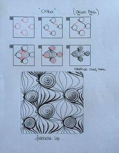 Zentangle-Pattern 'Onba' by Franciose Lip, presented by www.de Informations About Zentangle-Pattern 'Onba' by Franciose Lip, presented by ww Doodle Art Drawing, Zentangle Drawings, Doodles Zentangles, Tangle Doodle, Tangle Art, Zen Doodle, Doodle Patterns, Zentangle Patterns, Patchwork Quilting
