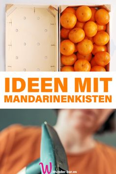 15 ideas for mandarin crates - upcyclingMandarin crates are too good to throw away - here are 15 ideas on how to keep using them. mandarinenkisten weihnachten upcycling deko basket and crate - Round baker Diy Upcycling, Feeling Happy, Diy Crafts To Sell, Pin Collection, Tricks, Diy Furniture, Repurposed Furniture, Painted Furniture, Crates