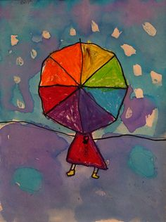 Artwork by Rebekah     By now, our first graders have learned that primary colors make secondary colors when mixed together.  This lesso...