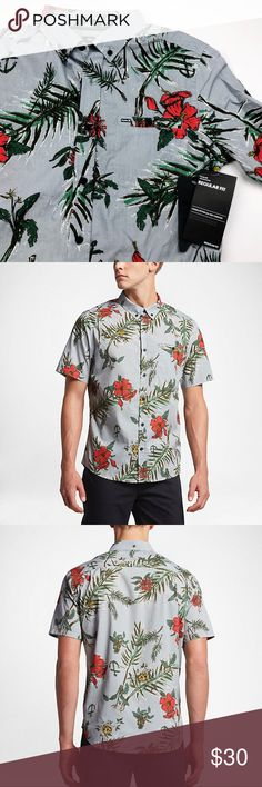 NWT Hurley Tropical Montauk Pocket Button Down Brand new with tags! Size small. Pocket detail. Tropical print. No trades! Hurley Shirts Casual Button Down Shirts