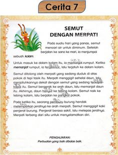 Kindergarten Assessment, Kindergarten Lessons, Kindergarten Reading, Kids Story Books, Stories For Kids, Hidden Pictures Printables, Malay Language, Indonesian Language, Sequencing Pictures