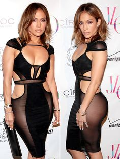 Jennifer Lopez wore a racy cutout dress without underwear (or a back) to her 46th birthday party in Southampton -- see the pictures, plus details!