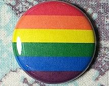 LGBT Rainbow Flag Pinback Button or Magnet