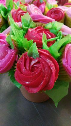 Maceta rosas Cupcakes