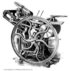 Один из наших станков для высокой печати - Chandler & Price 10x15 Old Style 1895 года. Титаник еще не был построен а этот пресс уже трудился в Филадельфии. #letterpresslove