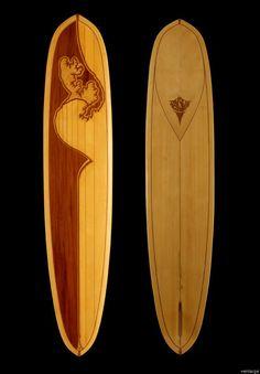 Rayskin Nose Rider Wood Surfboards | greenUPGRADER