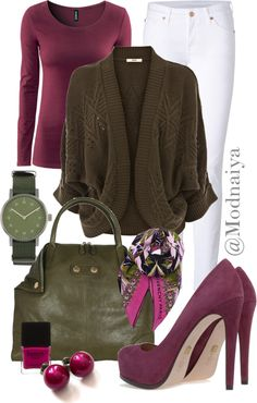 """""""#Stylish and comfortable: let's combine two or three colors to refresh your image:)"""" by modnaiya on Polyvore"""