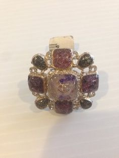 CHANEL AUTHENTIC MULTICOLOR STONE RING. Get the lowest price on CHANEL AUTHENTIC MULTICOLOR STONE RING and other fabulous designer clothing and accessories! Shop Tradesy now
