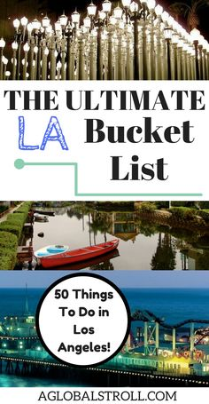 50 Things to Do in Los Angeles, California - The Ultimate LA Bucket List The ultimate Los Angeles bucket list! Best things to do los angeles california Los Angeles Travel Guide, Los Angeles Vacation, Los Angeles Day Trips, Los Angeles Tourism, Weekend In Los Angeles, Places To Travel, Travel Destinations, Places To Visit, Vacation Places