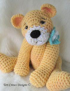 Crochet Pattern Favorite Teddy Bear by Teri Crews por TCrewsDesigns