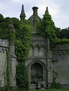 Margam Castle was a large Victorian era country house, built in Margam, Port Talbot, Wales, for Christopher Rice Mansel Talbot that now stands abandoned & overgrown! Beautiful Castles, Beautiful Buildings, Beautiful Places, Amazing Places, Wonderful Places, Oh The Places You'll Go, Places To Visit, Hidden Places, Magic Places