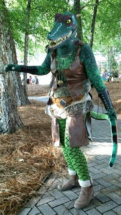 My Argonian character cosplay: a hunter in hide armor #games #Skyrim #elderscrolls #BE3 #gaming #videogames #Concours #NGC