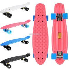 "Solid 24"" Cruiser Style Skateboard Complete Retro Deck Skate Board Longboard #UnbrandedGeneric"