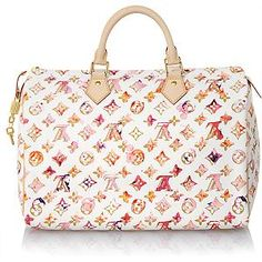 Louis Vuitton Watercolor Speedy. I want.