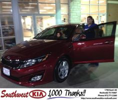Congratulations to Diana Gibson on your #Kia #Optima purchase from Kathy Parks at Southwest KIA Rockwall! #NewCar