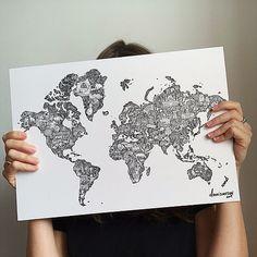 World Map | dannisimpsonart