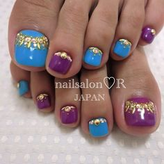 rie_nail #nail #nails #nailart Pedicure Nail Art, Pedicure Designs, Toe Nail Designs, Toe Nail Art, Nail Nail, Indian Nail Designs, Indian Nail Art, Indian Nails, Cute Toe Nails