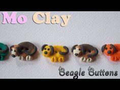 Polymer Clay Beagle buttons- Bottoni Beagle in pasta sintetica - Arcillas polimericas Botones - YouTube