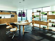 Vao kuchyně s jídelnou. / kitchen and dining room Wooden Kitchen, Kitchen Dining, Kitchen Island, Dining Room, Team 7, Natural Wood, Bamboo, Interior, Table