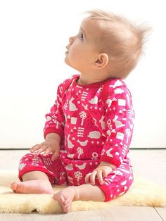 Baby Girls Garden Sleepsuit