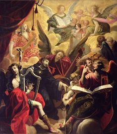 St. Nicholas of Tolentino with a Concert of Angels, 1650 (oil on canvas)