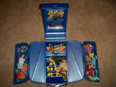Reuse, Other use for CABOODLES Makeup Organizer CASE: Miniature Doll Stuff Accessories Storage!