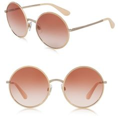 Dolce & Gabbana 56MM Round Mirrored Sunglasses ($250) ❤ liked on Polyvore featuring accessories, eyewear, sunglasses, glasses/sunglasses, apparel & accessories, gold pink, mirror lens sunglasses, round sunglasses, pink mirror sunglasses and round lens sunglasses