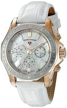 Swiss Legend Women's 16200SM-SR-02-WHT Islander Analog Display Swiss Quartz White Watch