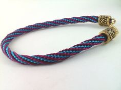 Burgundy and Turquoise Spiral Kumihimo Bracelet by knottyandnyce, $15.00