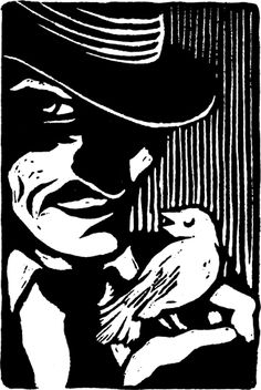 Hades by Peter Nevins http://www.peternevins.com/ Tags: Linocut, Cut, Print, Linoleum, Lino, Carving, Block, Helen Elstone, Human, Portrait