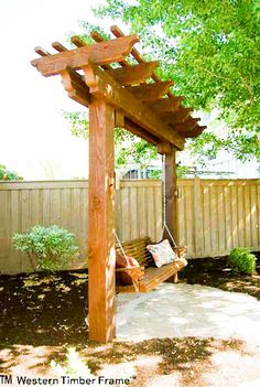 There are no two properties that are exactly alike. As with people, each and every landscape is unique. Let these shelter for outdoor living and landscaping ideas other have done, spark your own creativity in building an exclusive and sustainable oasis. Backyard Patio Designs, Backyard Pergola, Backyard Projects, Front Yard Landscaping, Outdoor Projects, Landscaping Small Backyards, Fenced In Backyard Ideas, Back Yard Patio Ideas, Back Deck Ideas