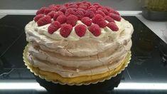 Pavlovovej torta s mascarpone a malinami (fotorecept) - obrázok 9