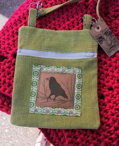 Linen bag, stamped bird on Snap Pap Linen Bag, Burlap, Reusable Tote Bags, Bird, Hessian Fabric, Birds, Jute, Canvas