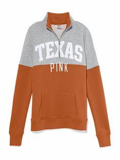 University of Texas Colorblock Half Zip Pullover PINK