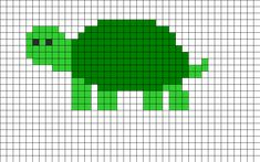 Turtle Perler bead pattern - Crochet / knit / stitch charts and graphs